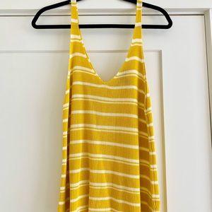 NWOT Knit Yellow Striped Tank Top - L